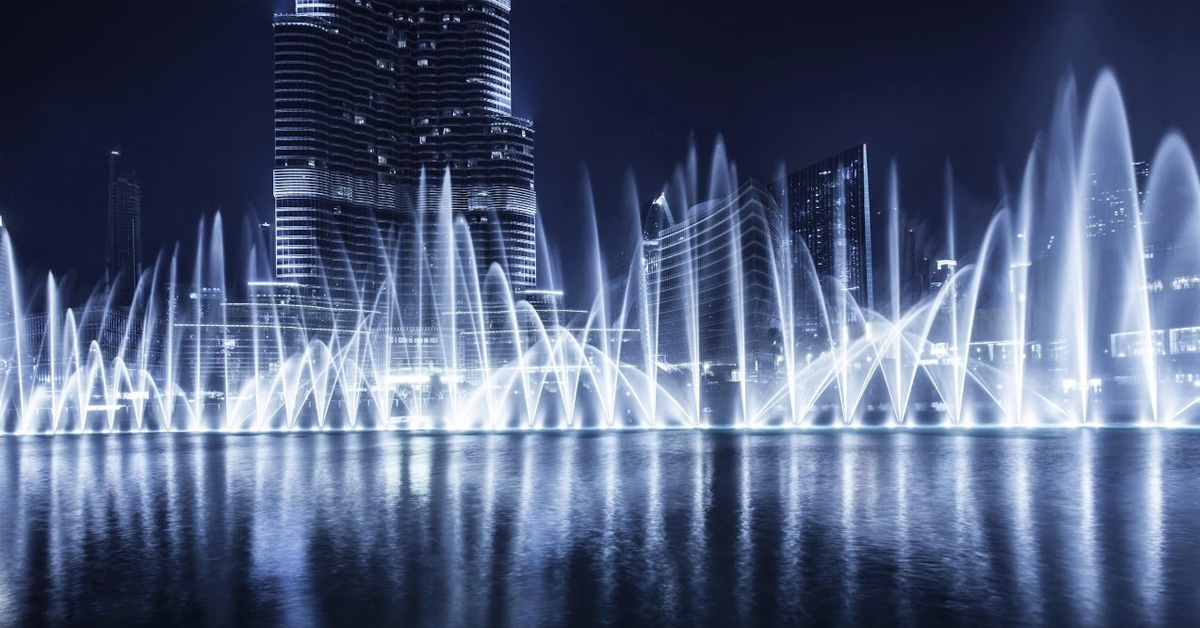 dancing fountain is a free place to visit in dubai